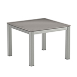Royal Botania Taboela Square Side Tables, Glass Top