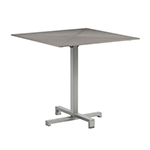 Royal Botania Taboela Folding Dining Tables, Cappuccino Glass Top