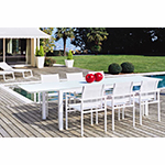 Rausch Long Beach Dining Table and Chairs in White