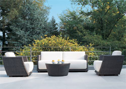 Miami Lodge Deep Seating :  wicker designer modular patio furniture