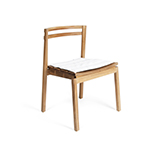 Skargaarden Oxno Dining Side Chair with White Cushion