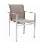 Sifas Ec-Inoks Dining Armchair, Chanvre Batyline Canatex