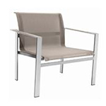Sifas Ec-Inoks Lounge Chair, Chanvre Batyline Canatex