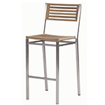 Barlow Tyrie Equinox High Dining and Counter Height Side Chairs, Teak