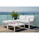 Rausch Summer Lounge Sofa with Ottoman and Table in White