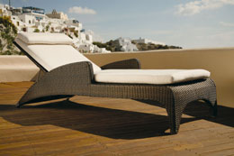 Savannah Lounger :  wicker barlow tyrie vladimir kagan savannah lounger
