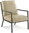 Joe Ruggiero Collection, Capri Leather Upholstered Chair