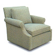 Maud Custom Upholstered Swivel Chair