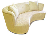 Simone Collection, Custom Upholstered Kidney Sofa
