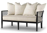 Excellence Collection, Java Fabric Upholstered Settee