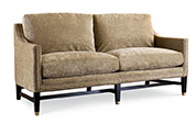 Excellence Collection, Aria Fabric Upholstered Demi Sofa
