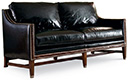Excellence Collection, Aria Leather Upholstered Demi Sofa