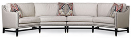 Excellence Collection, Aria Fabric Upholstered Sectional