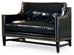 Excellence Collection, Aria Leather Upholstered Settee