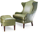 Excellence Collection, Caden Leather Upholstered Armchair