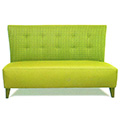 Tara Custom Upholstered High-Back Settee