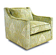 Tribeca Custom Upholstered Swivel Chair