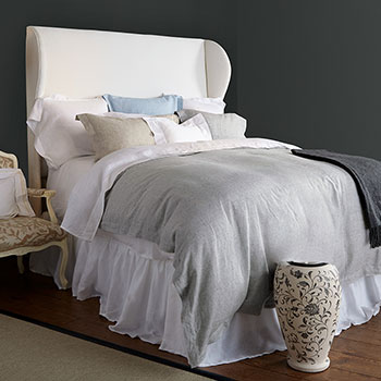 air stone washed linen sheet set with pure yarn dyed linen shams and duvet cover