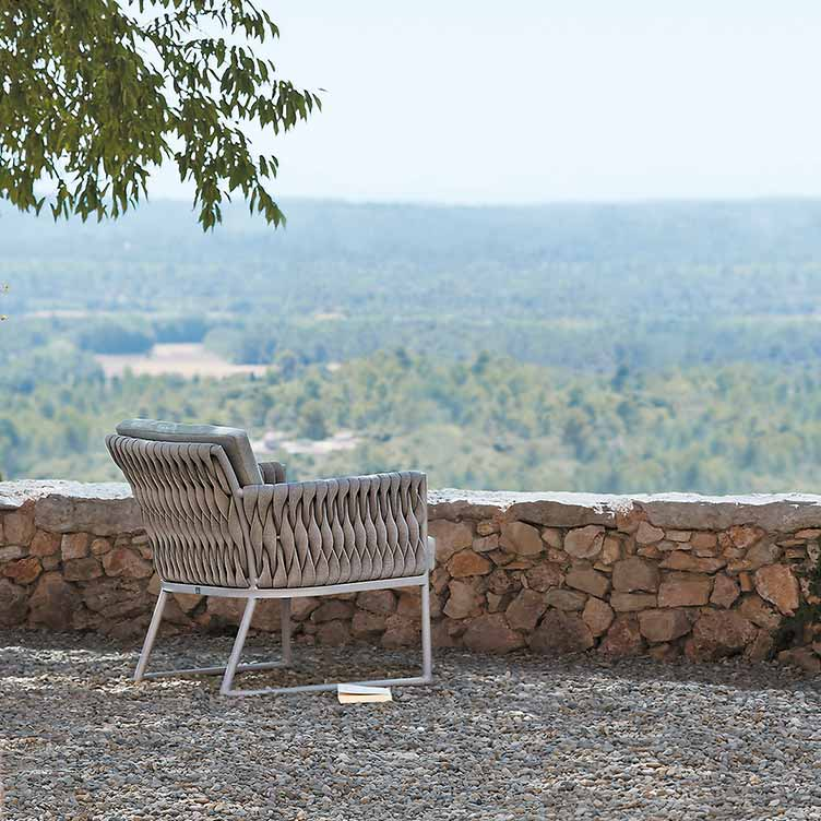reading with a view: basket lounge chair