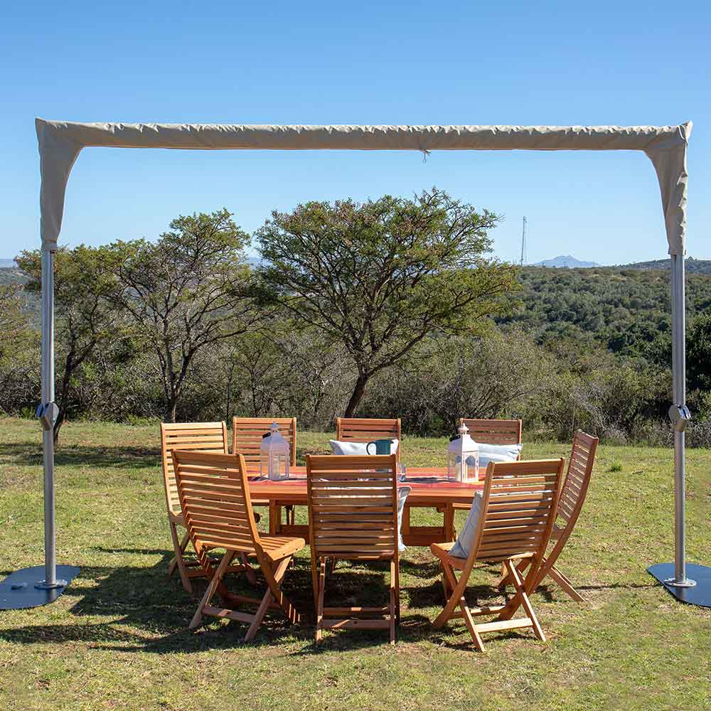 sky shade with weather-resistant cover