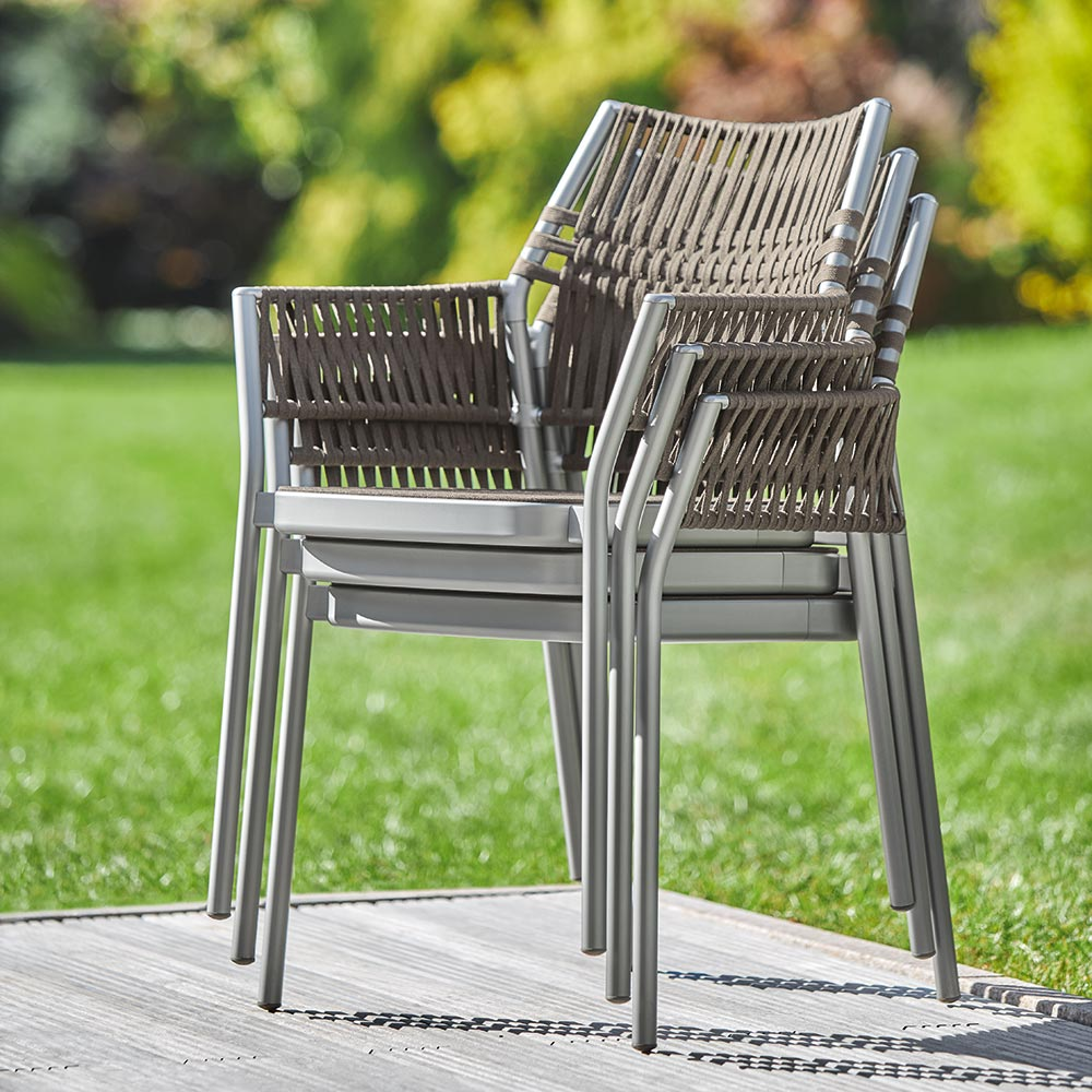 practical luxury: stack up to three temper armchairs