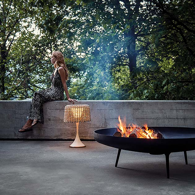 prolong your summernights: gloster fire bowls come in two sizesimage provided courtesy of gloster furniture, inc.