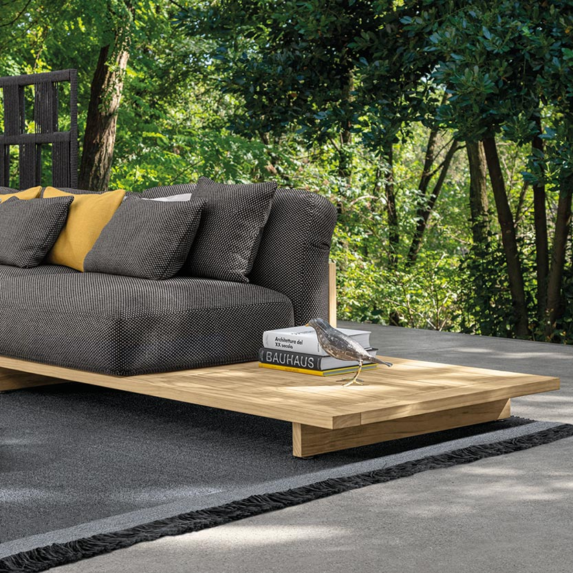 beyond seating: the argo sofa + coffee table allows for thoughtful decoration in your modular sofa