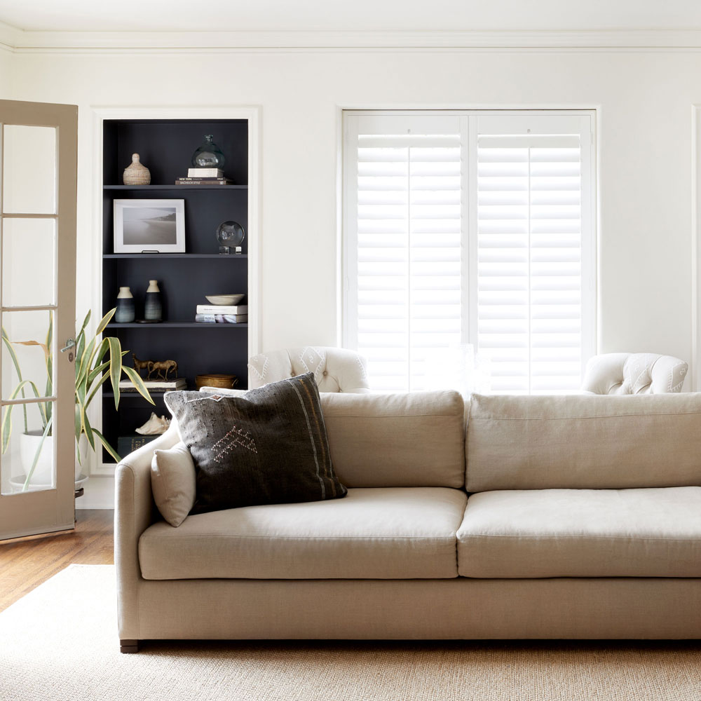 """dexter 90"""" sofa exudes clean lines and simple style (fabric: prairie oatmeal)"""