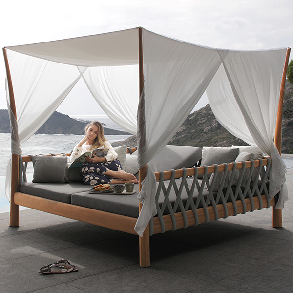 heavenly serenity: royal botania's tuskany hammock (side curtains and throw pillows are optional for an upcharge)