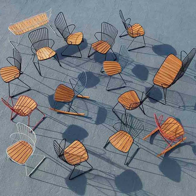 bird's-eye view: paon seating in many modern finishes