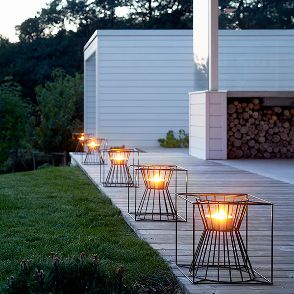 aesthetic safety feature: you won't trip with boo candle holders lined up at the edge of your deck