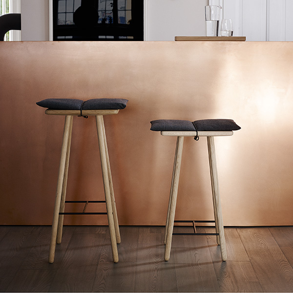 high and low: georg stools (cushion included | note that the georg bar stool high is no longe in production)