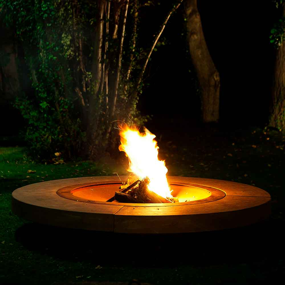 the focal point of your outdoor space: rondo wood-burning outdoor fire pit