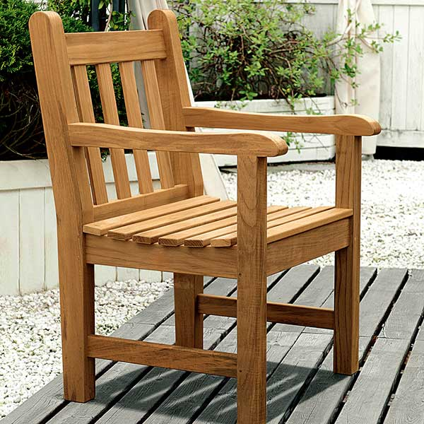 felsted armchair on a private deck
