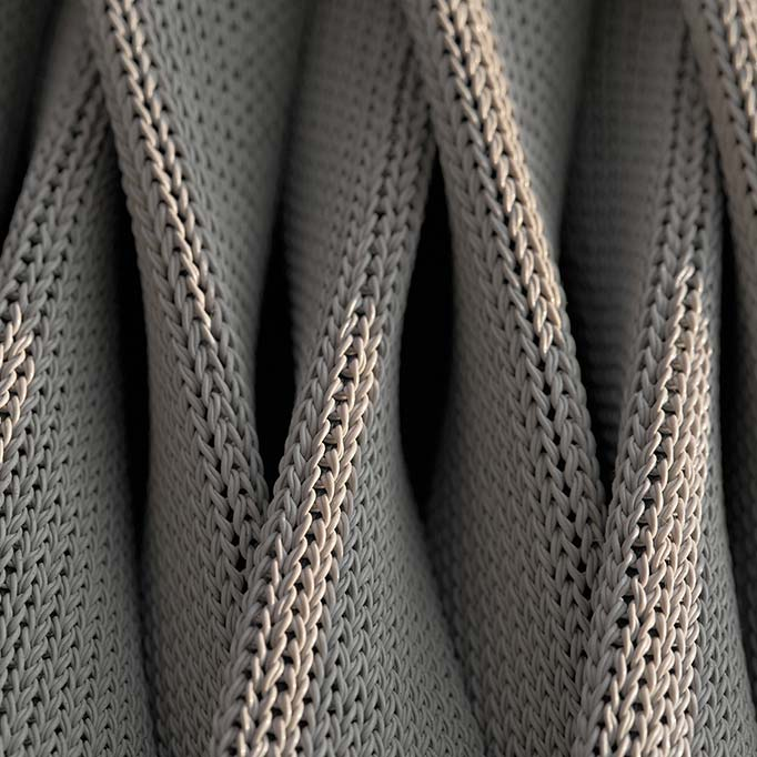 in focus: kalife's large weave made from braided polyester (water repellent)