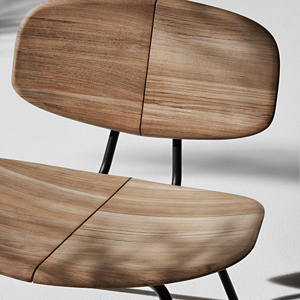 up close details: natural teak agave lounge chair