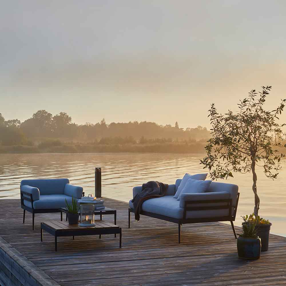 from dawn to dusk: anholt lounge chair, sofa, lounge table and lounge table from lido collection