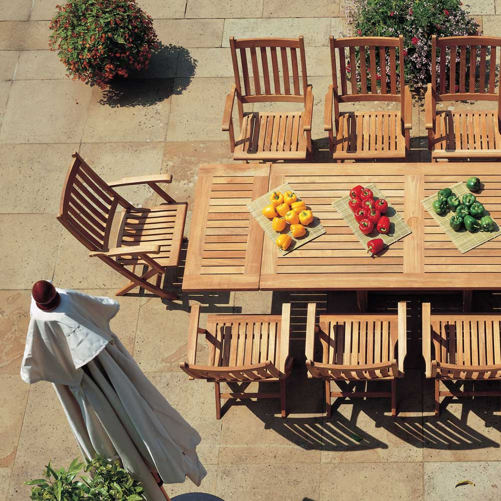 Ascot Collection Solid Folding Teak Outdoor Furniture By Barlow Tyrie Curran Home