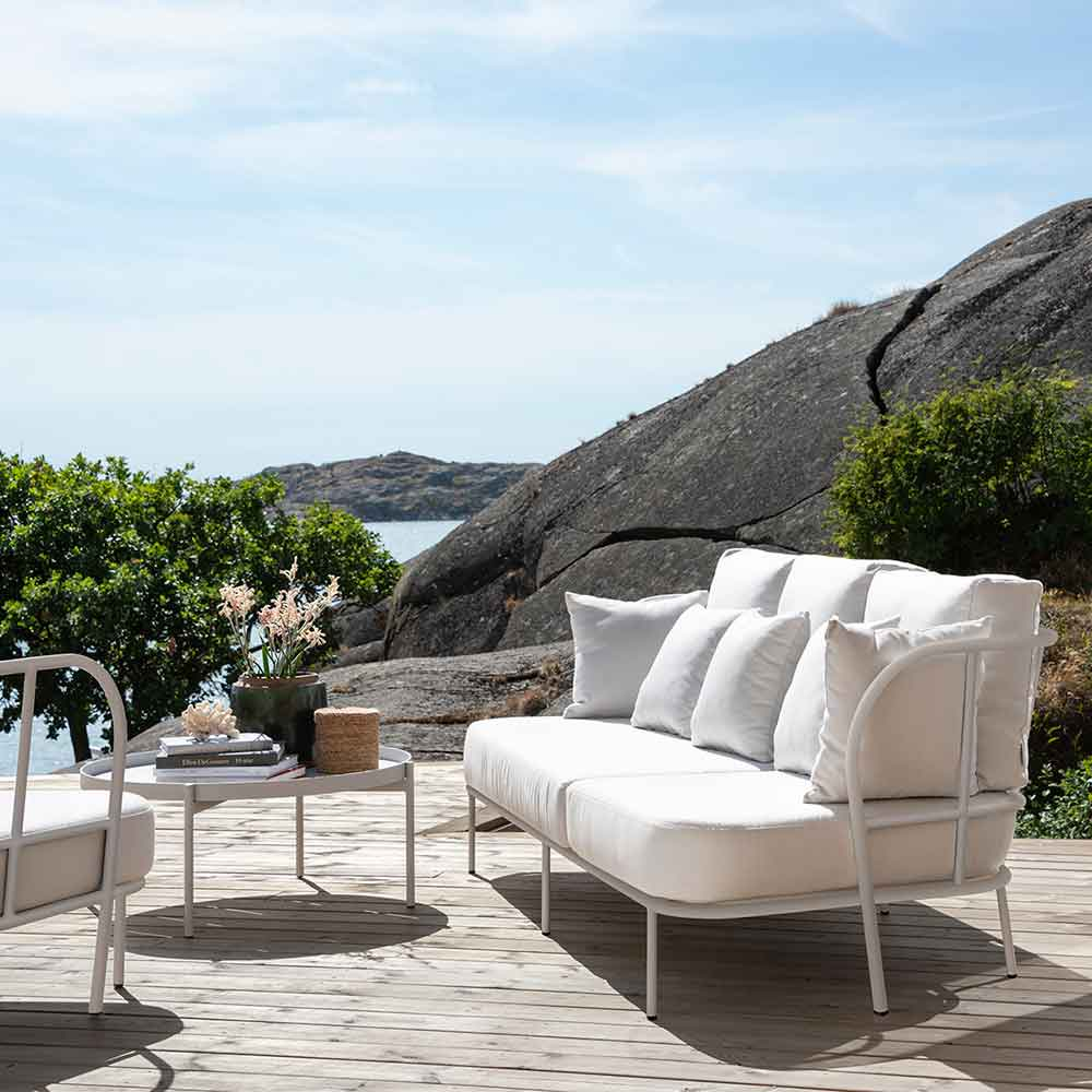 basking in the sun: salto sofa, lounge chair and lounge table