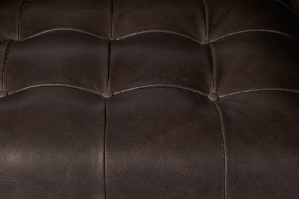 the colin collection is available in a wide array of leather colors (shown: indiana charcoal)