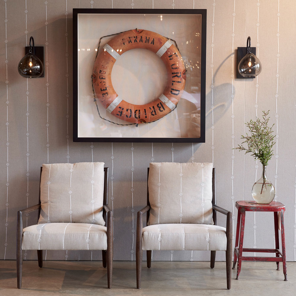 pair of montauk chairs in amal natural ivory