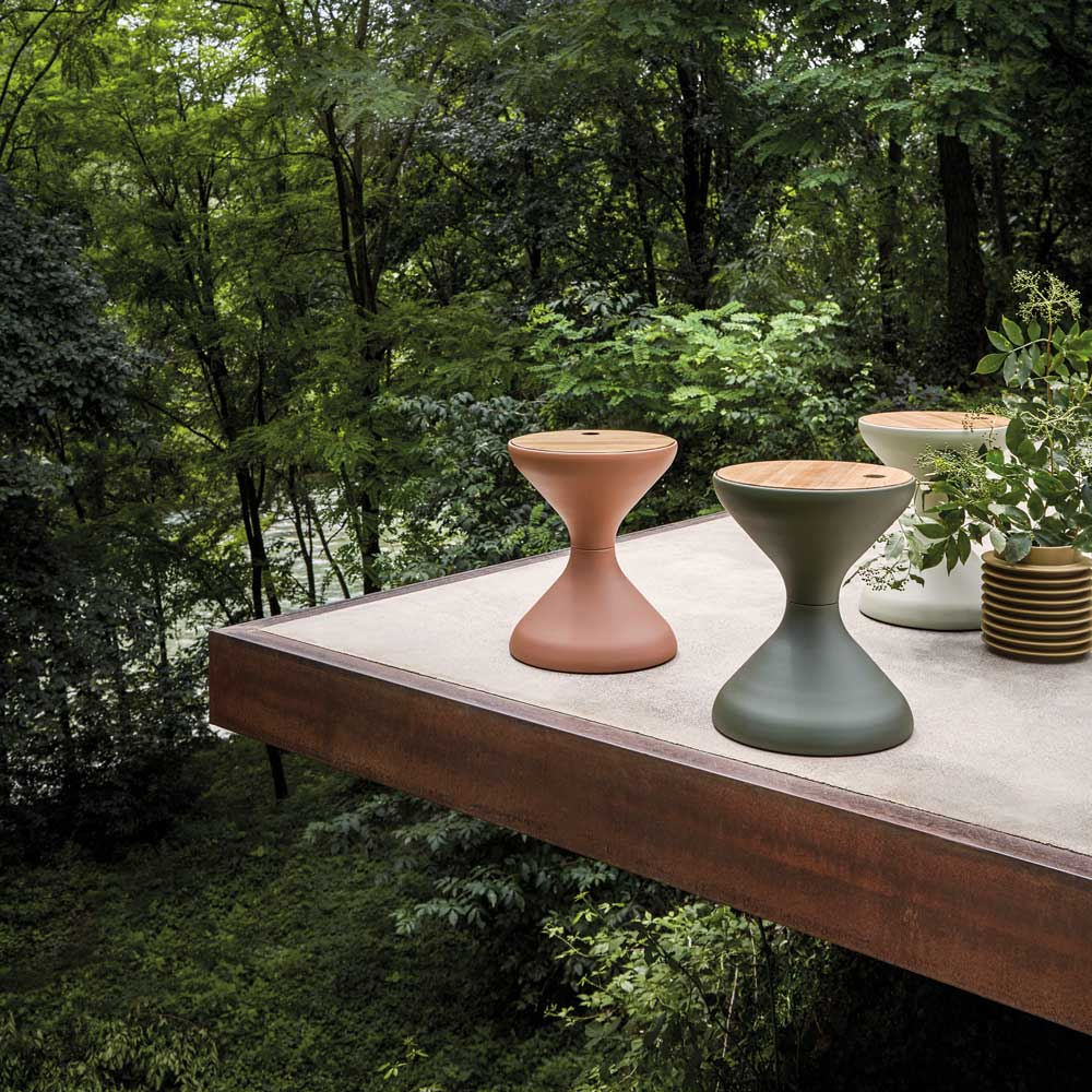 setting accents: bells side tables image provided courtesy of gloster furniture, inc.