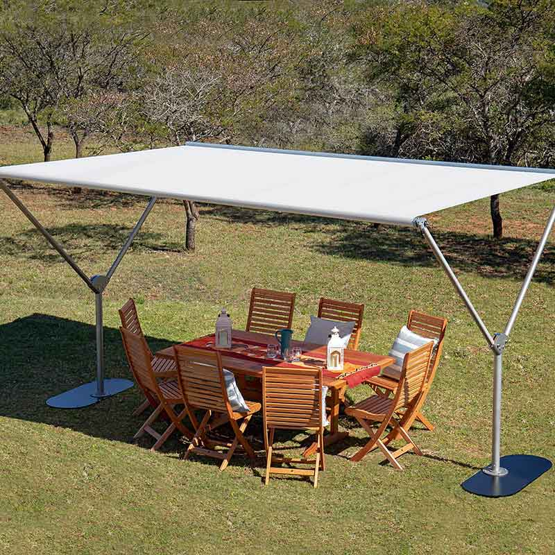 a touch of elegance and style: sky shade in sunbrella canvas