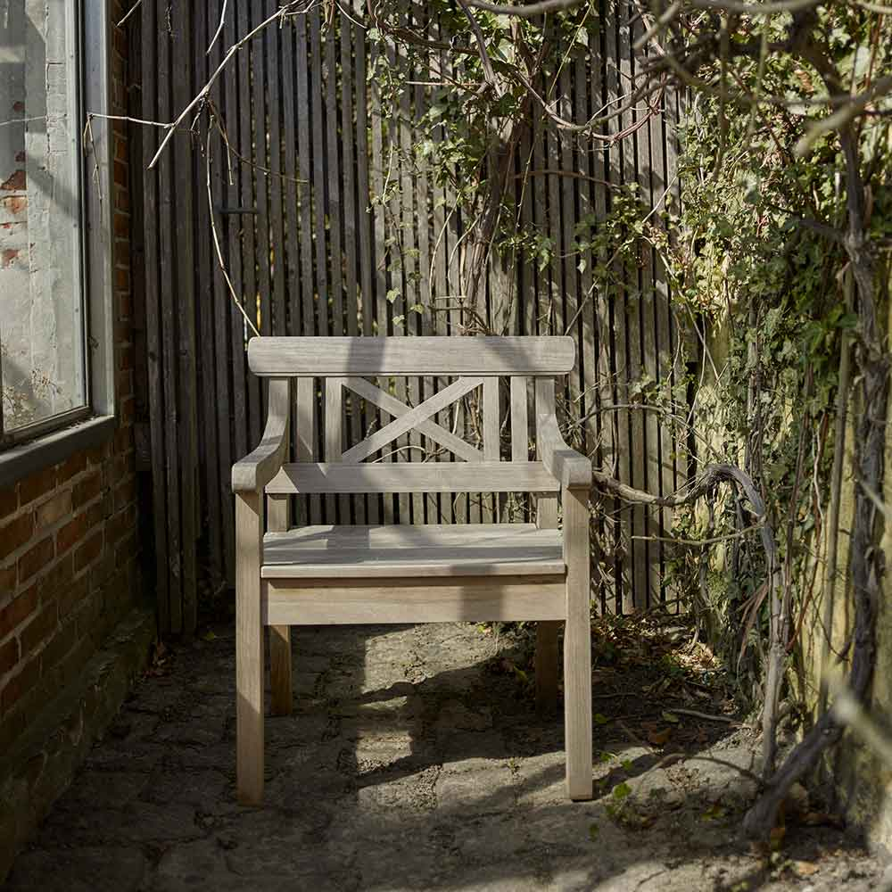 naturally weathered teak: drachmann chair a statement of beauty