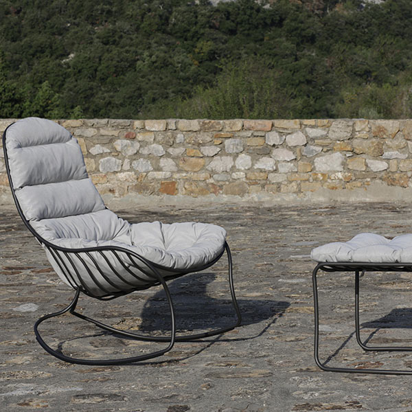 folia rocking chair with the optional cushion a comfortable seat