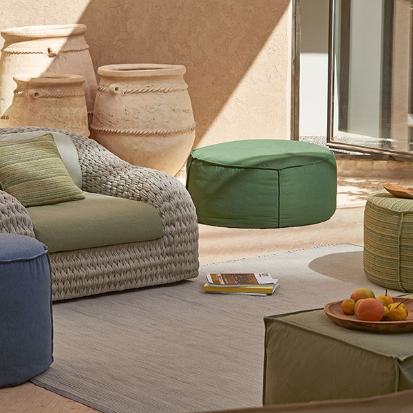 "side table or footstool: touch 21"" versus 32"" round pouf"