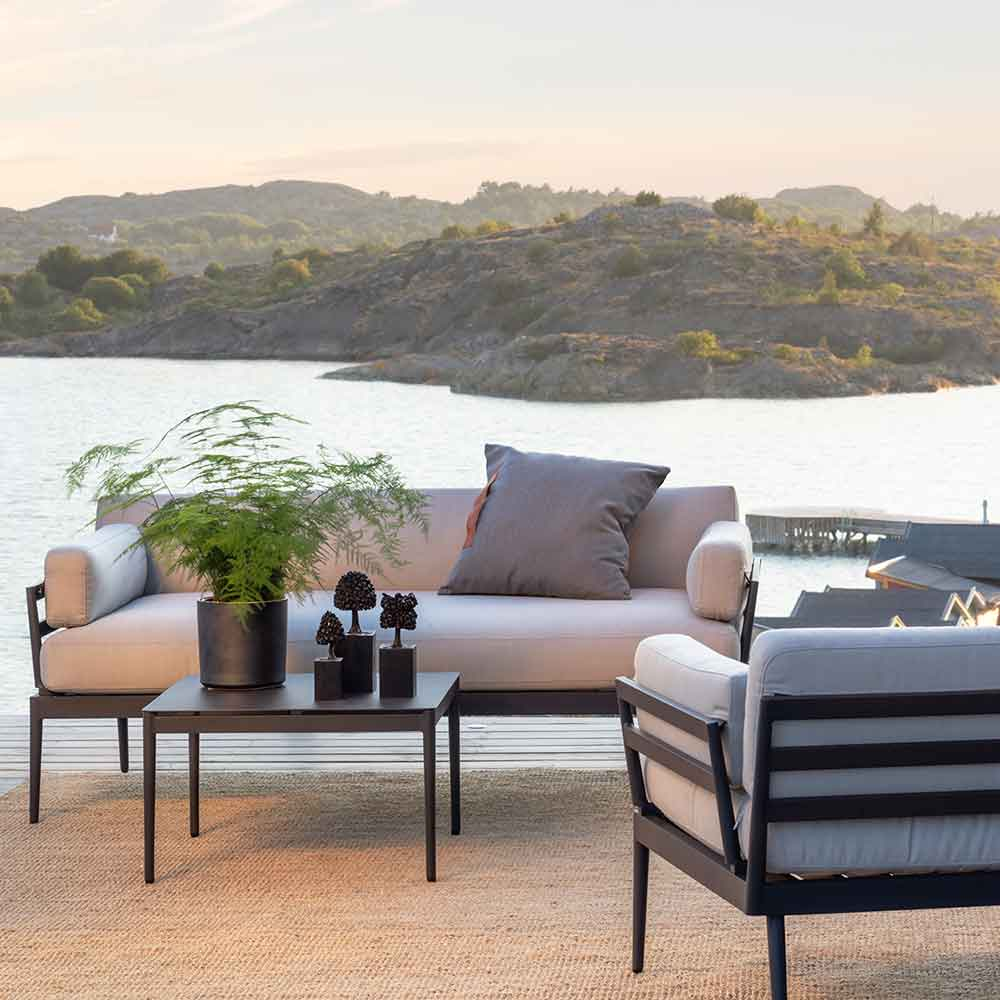 island living: anholt sofa, lounge chair and lounge table