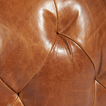 close-up of the leather