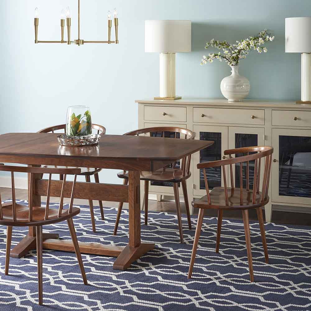 clark butterfly table and audrey chairs in finish seasoned cherry