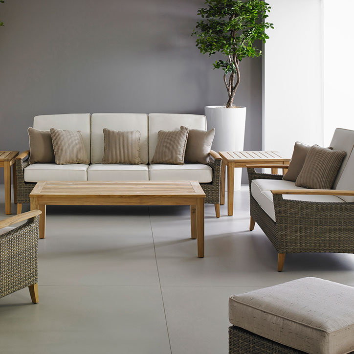 pepper marsh 3- and 2-seater sofa, lounge chair and ottoman image provided courtesy of gloster furniture, inc.